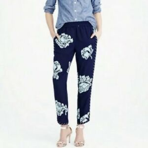 J. Crew Reese Pant In Graphic Peony- Size 6